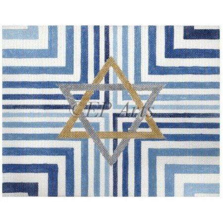 Tallis Bag Blue Stripe Star