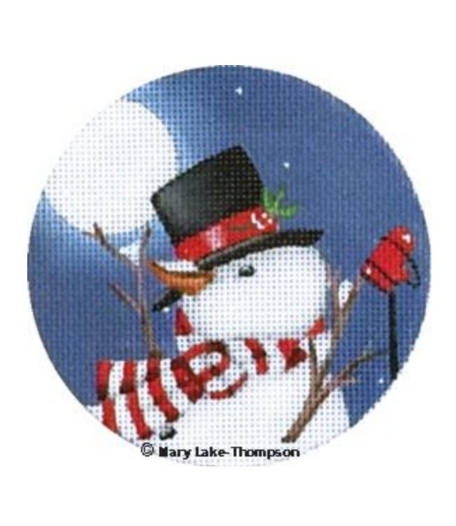 Snowman Ornament w/ Scarf