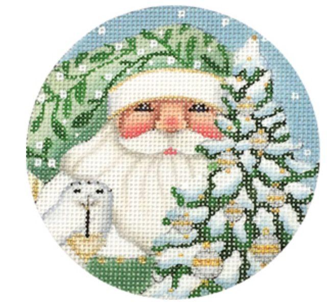 Wintergreen Santa Round Ornament