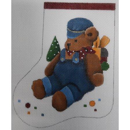 Mini Sock - Bear in Blue