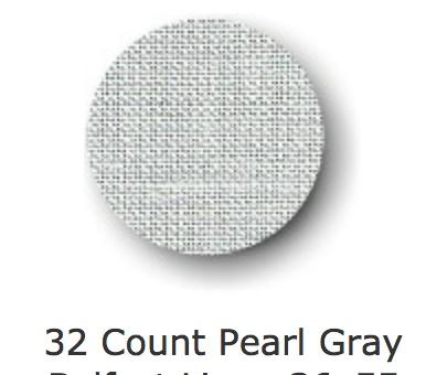Belfast Pearl Gray 32 Ct, 55 Inch, Per Inch
