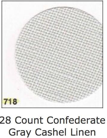 Cashel Confd-Gray 28 ct, 55 Inch, Per Inch