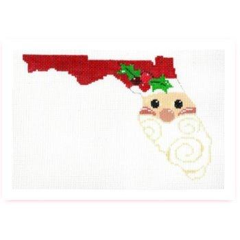 State Shaped Santa Florida