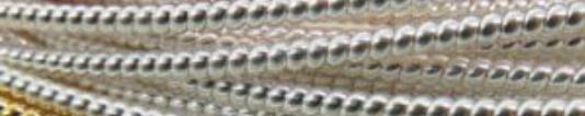 Silver Plate Pearl Purl #3- 1 Yard