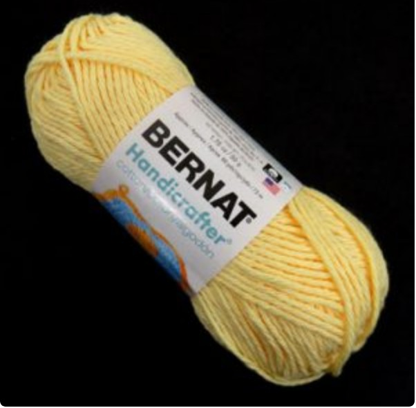 Bernat Hanicrafter Padding - White and Yellow For Goldwork