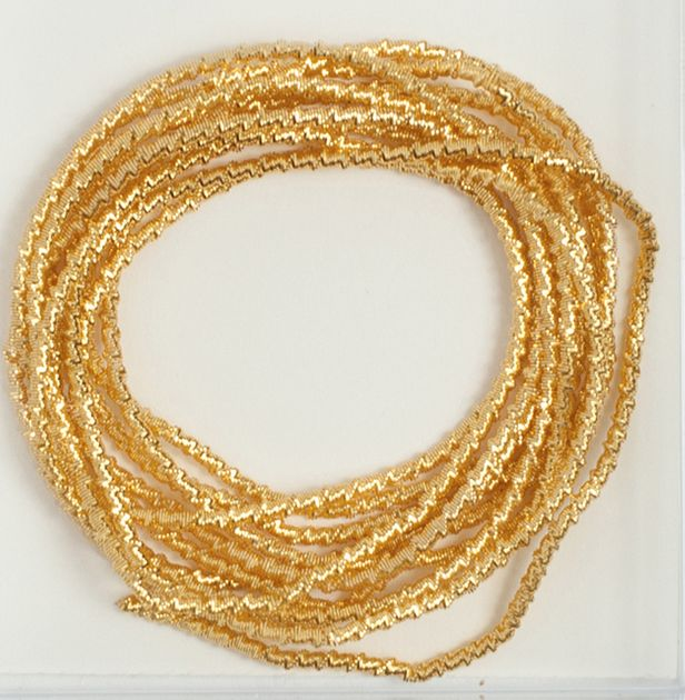 Crimped Purl #7 (Gold Brilliant)  - 36""