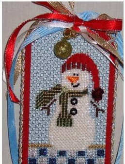 Snowman Tag (Sold as unfinished canvas)