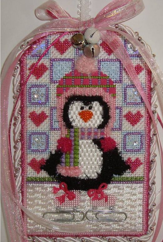 Skating Penguin Girl Tag (Canvas Only)