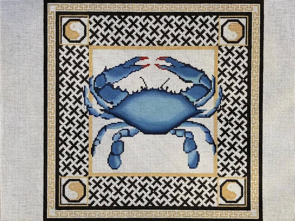 Blue Crab with Ying Yang Border