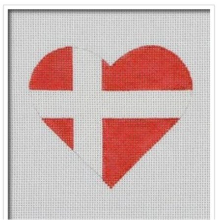 Denmark Flag Heart