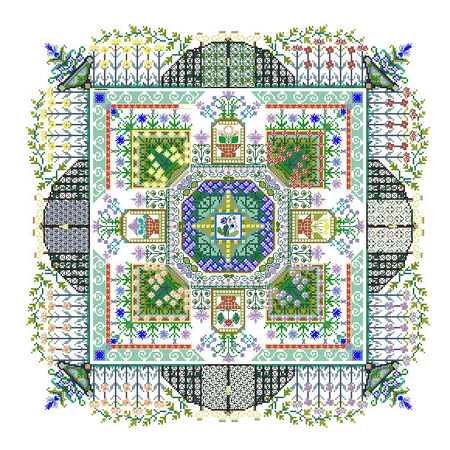 The Convent's Herbal Garden Mandala