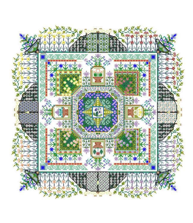 The Convent's Herbal Garden Mandala