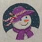 Snow lady in purple