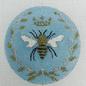Round Bee Aqua with Gold