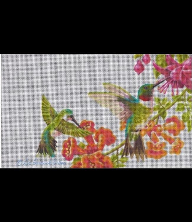 Hummingbirds in Floral Vines