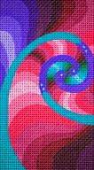 Fractal Eye Case: Orange, pink, Turq