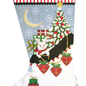 White Christmas Sock