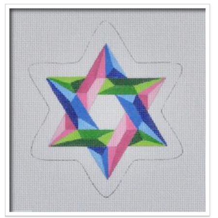Tri-Colored Star of David