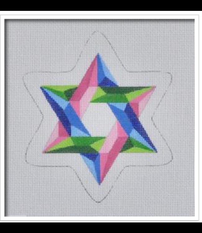 Tri-Colored Star of David