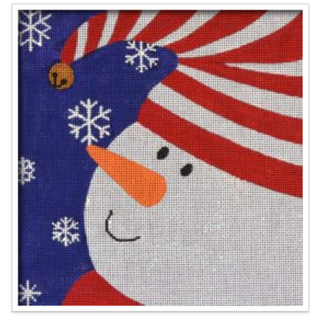 Graphic Snowman Bell Ornament