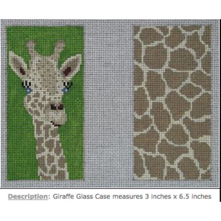 Double Sided Eye Glass Case Giraffe