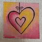PE Insert for Square Jew Box- Fuchia Heart