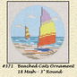 """Beached Cats - 3"""" Round"""