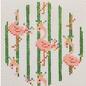 Flamingo Round with Stripes
