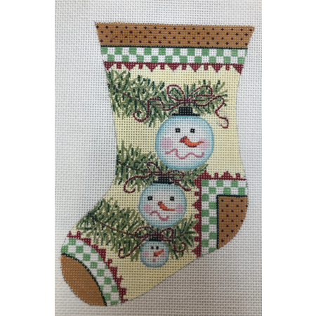 Snowman Mini Stocking