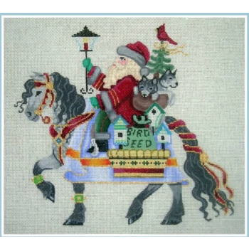 Santa on Horse 24 Ct
