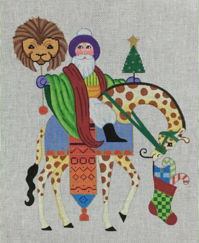 Santa on Giraffe, 24 Ct
