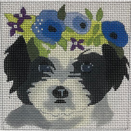 Havanese with Floral Crown