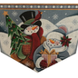 Snow Couple Stocking Cuff