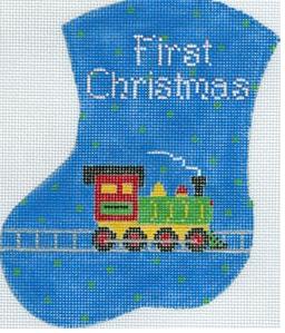 Baby's 1st Christmas/Train Mini Stocking