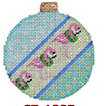 Dots/Flamingos/Check Ball Ornament