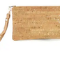 Cork Wristlet with Silver Flecks / Evening Bag Has Black Strap