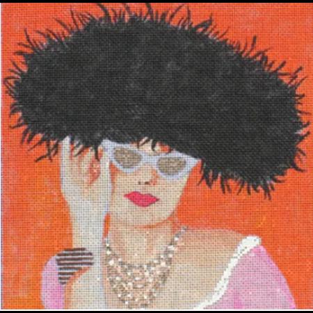 In Black Fur Hat