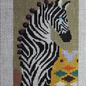 Zebra single eye glass case