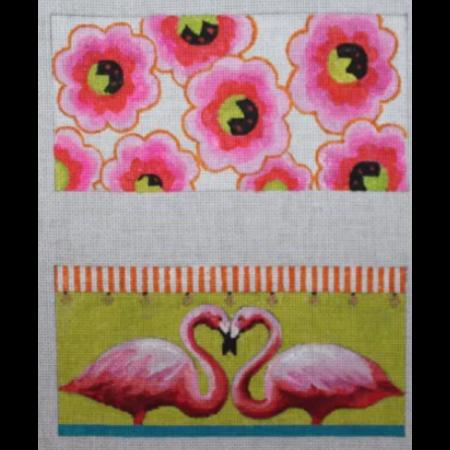 flamingo/floral eye glass case