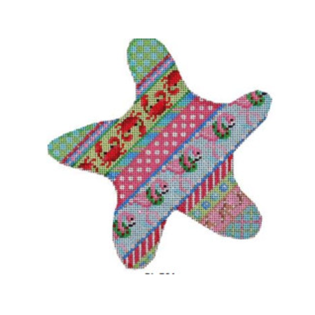 Crab/ Flamingo Diagonal Pattern Starfish  Stitch Guide