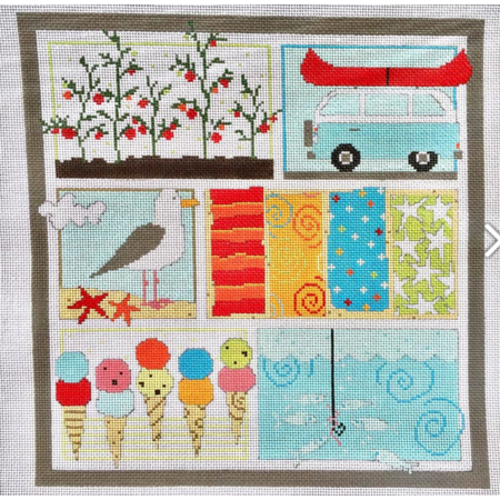 Summer Collage w/Stitch Guide