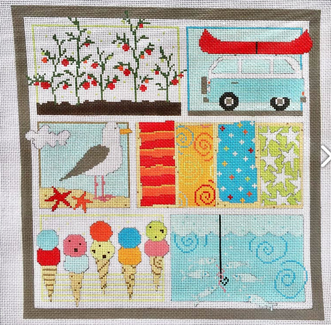 Summer Collage w/Stitch Guide