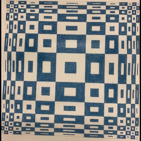 Blue/White Square Geometric