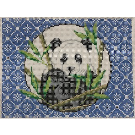 Panda on Blue Mah Jongg