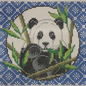 Panda on Blue Mah Jongg
