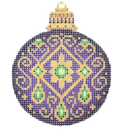 Bejeweled Christmas Ball Purple