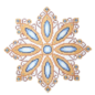 Bejeweled Ornament Gold/Blue