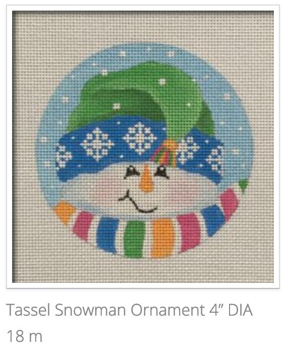 Tassel Snowman Orn