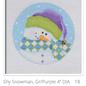 Shy Snowman Orn