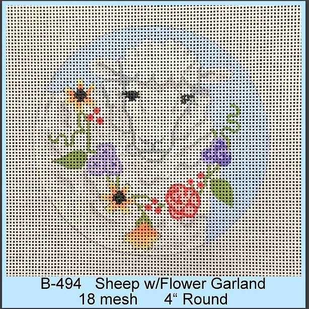 Sheep with Flower Garland